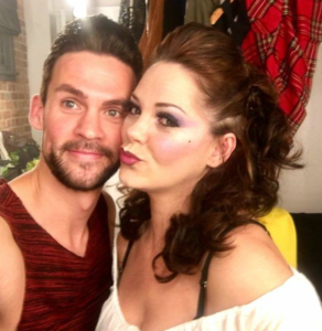 Kyle Jardine and Tessa Denton Back Stage at Macbeth, The Adult Panto