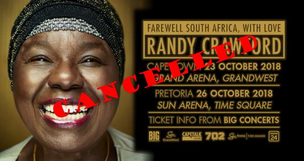 Randy Crawford: Cancelled