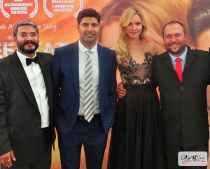 Rajiv Terwadkar, Producer, Andrew Govender, Nicola Breytenbach and Tom Marais, cinematographer of Free State