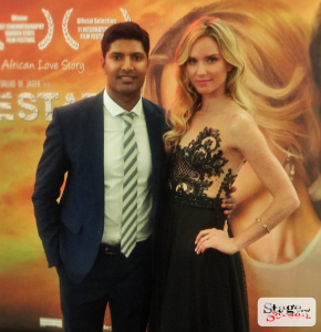 Andrew Govender and Nicola Breytenbach during the Premiere of Free State