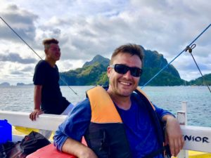 Louw Mulder during the El NIdo Island Tour