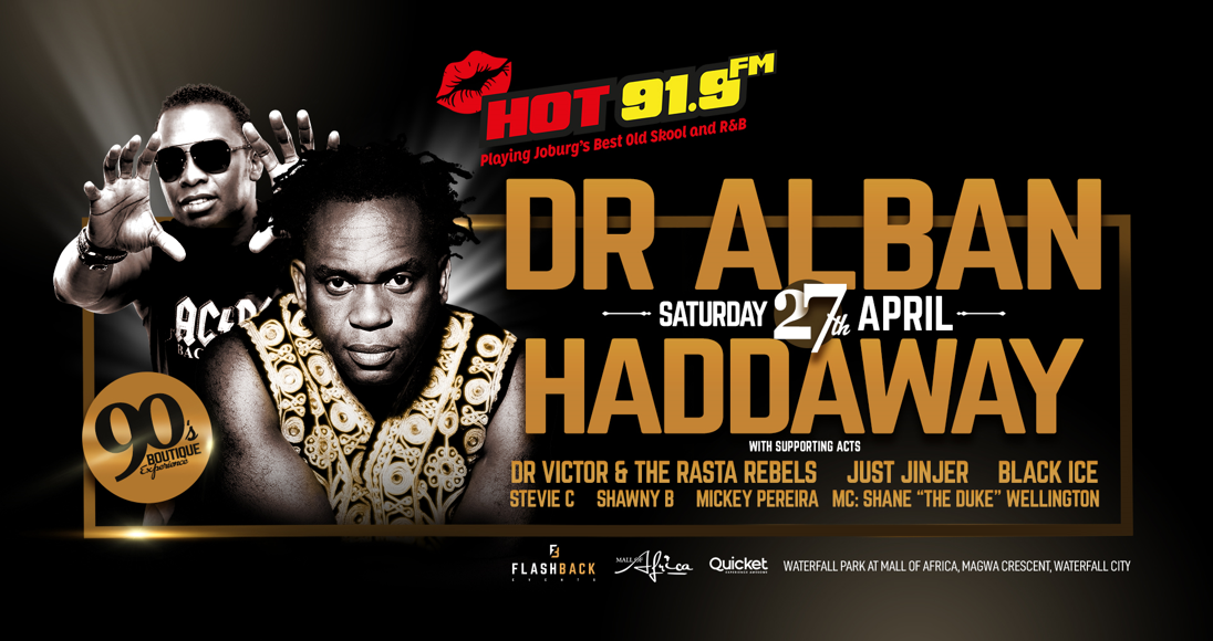 Dr Alban and Haddaway: April 2019