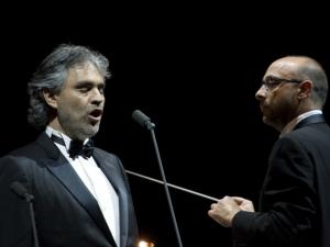 Andrea Bocelli and Carlo Bernini