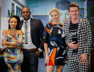 Candice Modiselle, Christall Kay, Gert Johan Coetzee, and Lucky Du Plessis